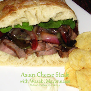 Asian Cheese Steaks with Wasabi Mayonnaise Recipe