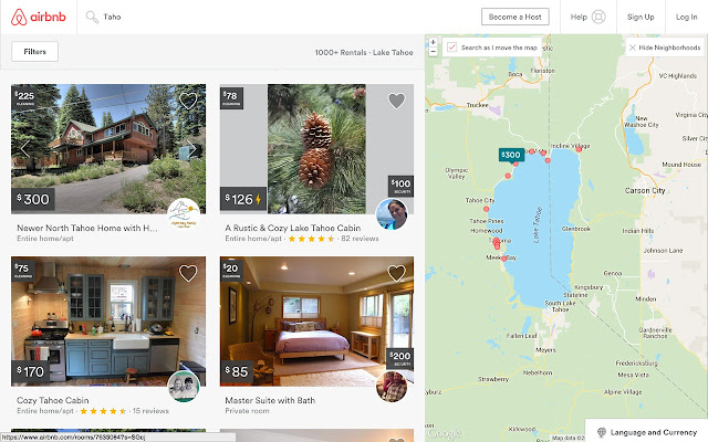 AirBnB cleaning & deposit in search results