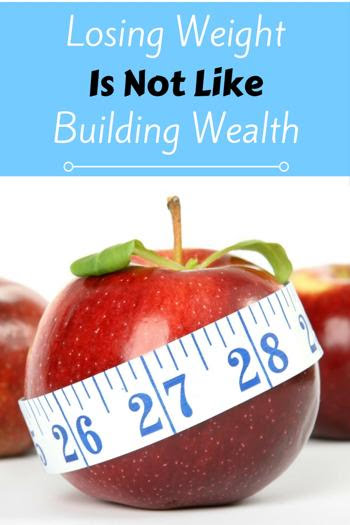 Losing Weight Is Not Like Building Wealth