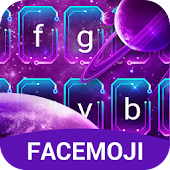 Purple Galaxy Emoji Keyboard for Android