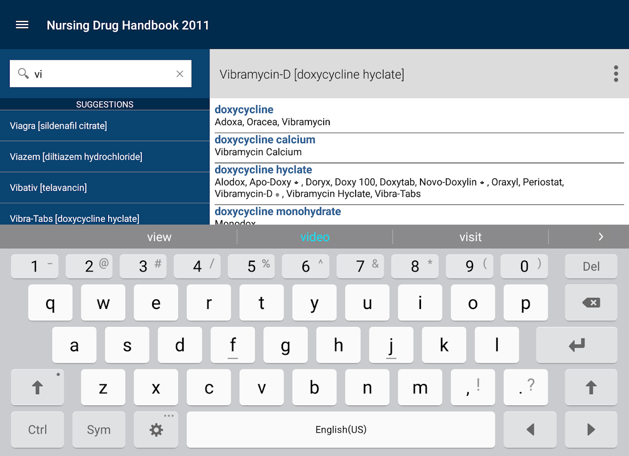Nurse's Drug Handbook- screenshot