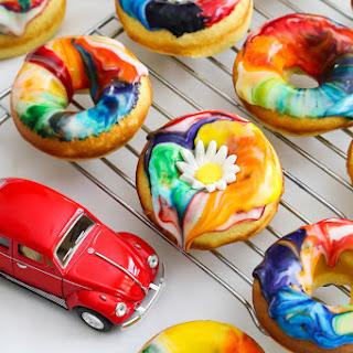 Lemon Tie Dye Doughnuts.