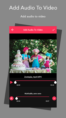 Add Audio To Video - screenshot