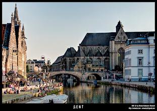 Photo: Canales de Gante y  Saint Michael's Church.