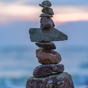 Balance. by John Greene - Nature Up Close Rock & Stone ( balanced life, balance, zen, pebbles, beach, john greene, stones )