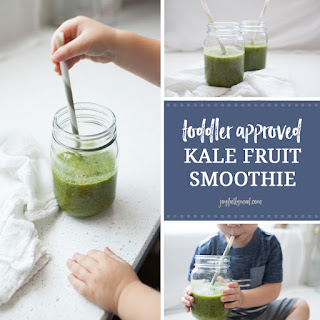 Toddler Approved Kale Fruit Smoothie.