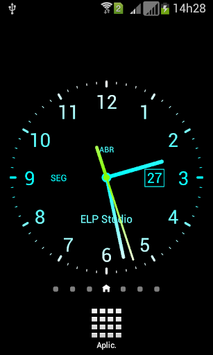 Papel de parede Relógio Tela
