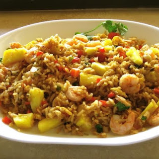 Spicy Shrimp and Pineapple Fried Rice.