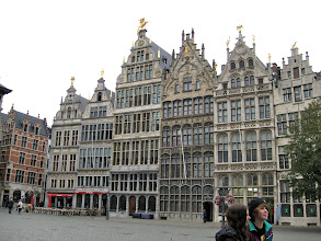 Photo: The buildings lining the square were all guild halls.