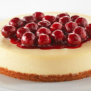 Classic Cherry-Topped Cheesecake.
