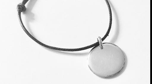 Bracelet médaille HO en argent