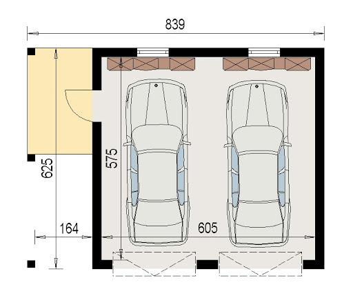 AD-G3.55 - Rzut garażu