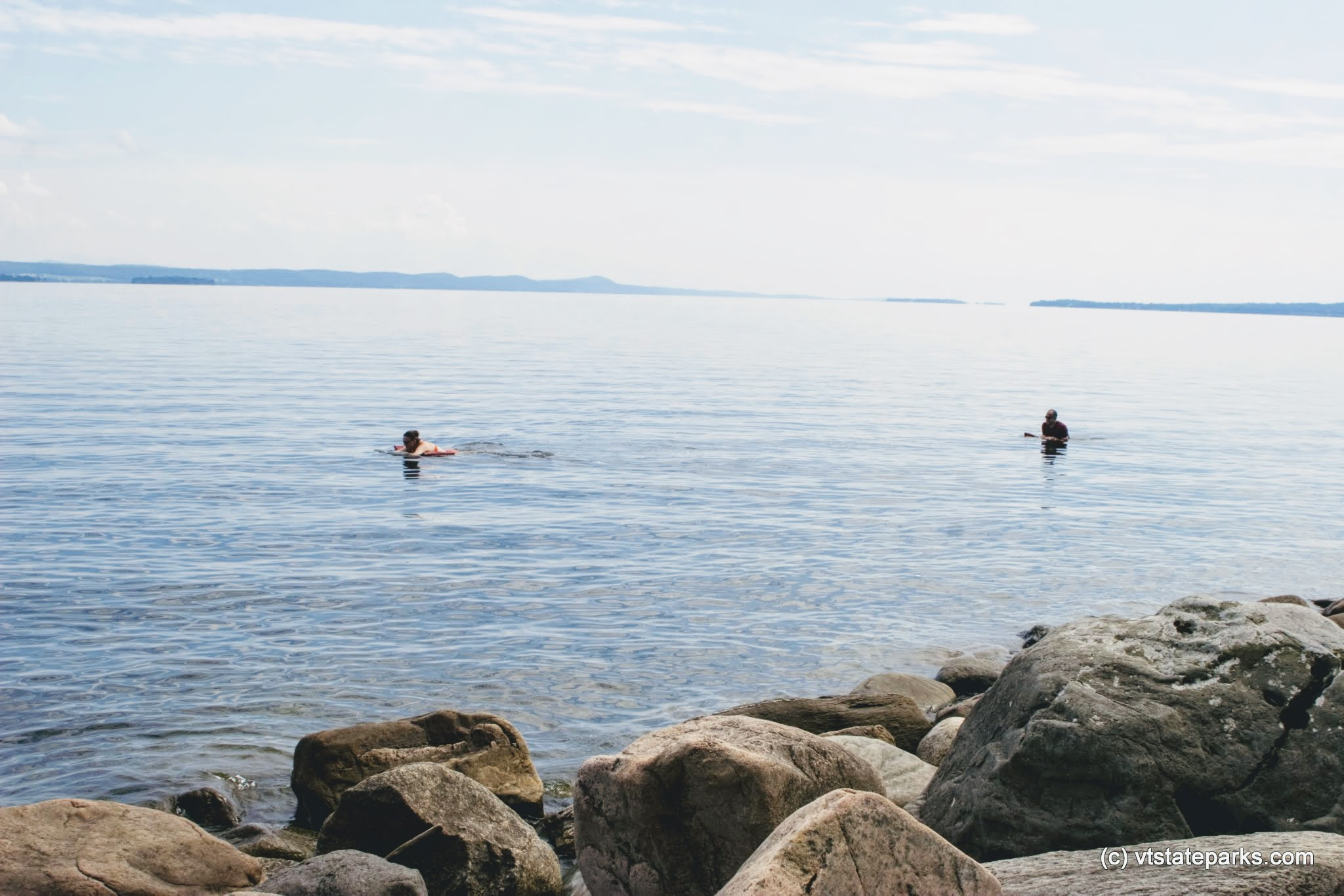 Photo: Swimming at Knight Island State Park