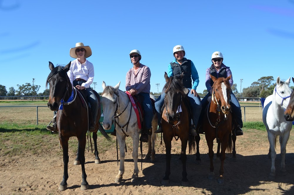 Frank Dampney Encouragement - first Sarah Knight on Swagman, second Owen Shields on George, third Grace Jackson on Ariat and fourth Tegan Maher on Glendora Macca.