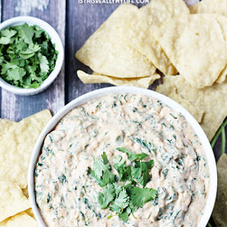 5-Minute Spinach Salsa Queso Recipe