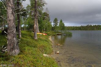 Photo: Kolmas leiripaikka. Suovasaari. 3.8.2010. Hyvä hiekkaranta mutta maasto hieman mättäinen.
