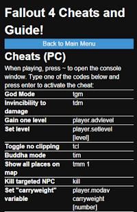 How to install Cheats & Walkthrough Fallout 4 1 0 0 mod apk for