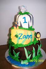 Photo: Safari 1st birthday cake