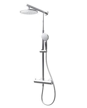 """DuschMaster Rain mit Thermostat, """"White Style"""", rund"""
