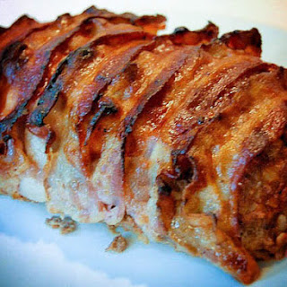 Yummy Bbq Bacon-wrapped Meatloaf.