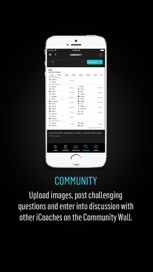 The iCoach App- screenshot