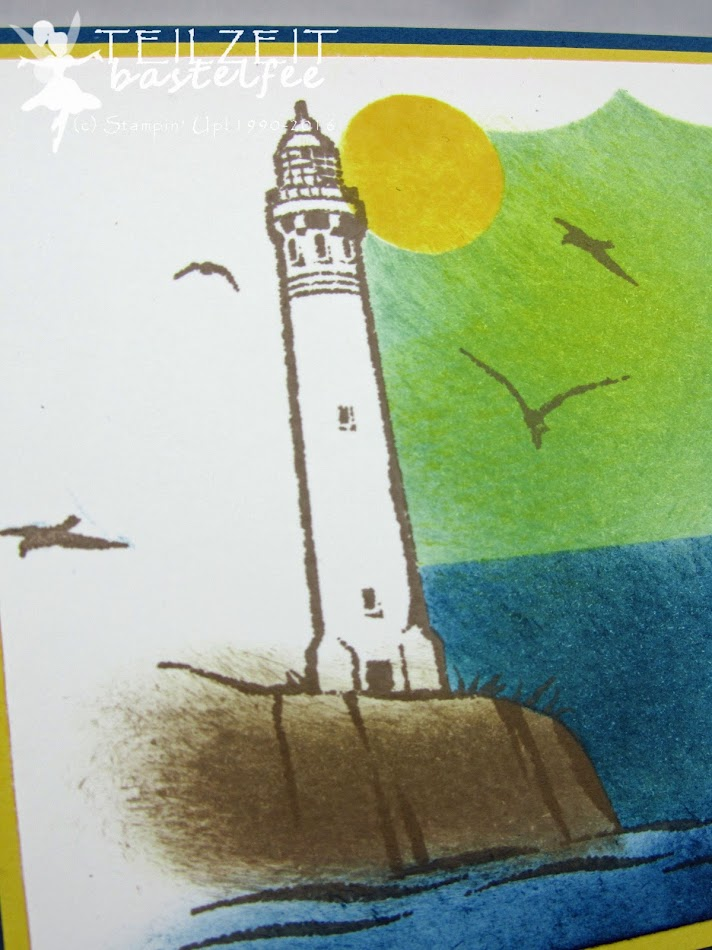 Stampin' Up! – In{k}spire_me #262, Color Challenge, Lighthouse, Uncharted Territory, holiday, Urlaub, Framelits Labels Collection, Rahmen-Kollektion