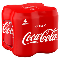 Coca-Cola Soda - 1320ml, 4 Pack