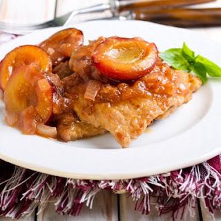 Pork Steaks with Plum Glaze Recipe