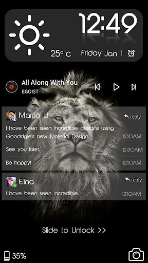 Lion King CM Locker Cool Theme screenshot 1