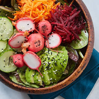 Radish Barbecue Bowls with Tangy Honey-Mustard Dressing.