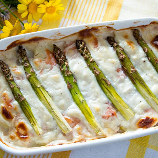 Asparagus Casserole with Salmon & Potatoes Recipe