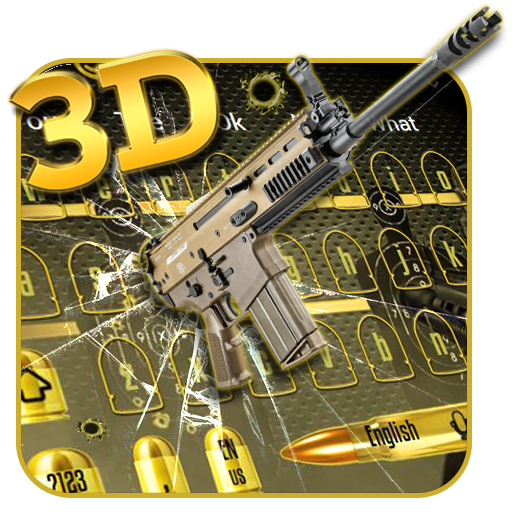 Revolver Bullet 3D Keyboard