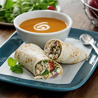 Tuna and Quinoa Sandwich Wrap.