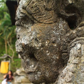 Temple ruin by Anita Elers-Cooper - Nature Up Close Rock & Stone ( temple, bali, goa gajah )