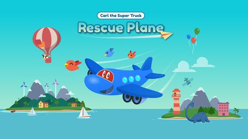 Code Triche Carl le Super Jet: Jeu d'Avion de Sauvetage APK MOD screenshots 1