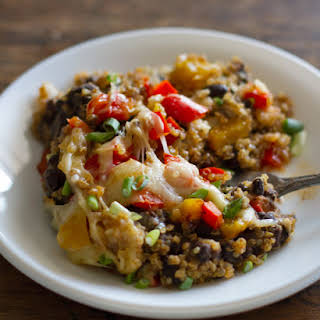 Southwestern Quinoa and Black Bean Casserole.