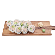 98. Cooked Tuna & Cucumber Sushi Roll
