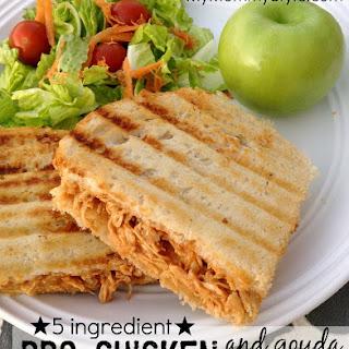 5 ingredient BBQ chicken and gouda panini