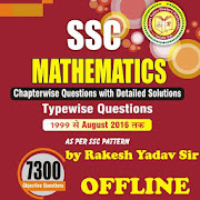 Rakesh Yadav 7300 SSC Mathematics Book - 1999-2017