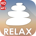 Meditate relax and sleep icon