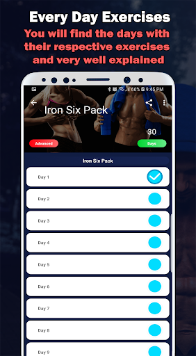 Six Pack in 30 Days - Abs Workout and Diets screenshot 11