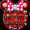 Cute Pink Minny Bowknot Keyboard Theme icon