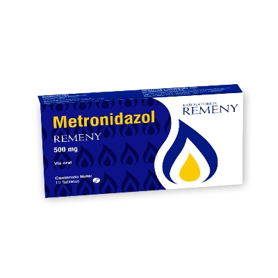 metronidazol 500mg 10tabletas remeny