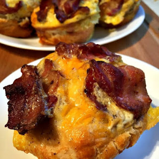 Bacon and Egg Breakfast Cupcakes.
