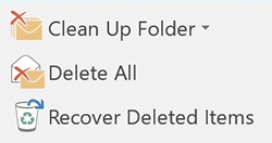 Recover deleted items in 2016 version