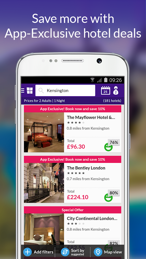 LateRooms: Find Hotel Deals- screenshot