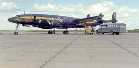 Photo: Blue Angels Super Connie at Chase Field air show '67