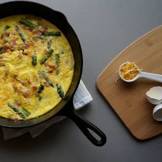 Asparagus, Ham, and Potato Frittata.