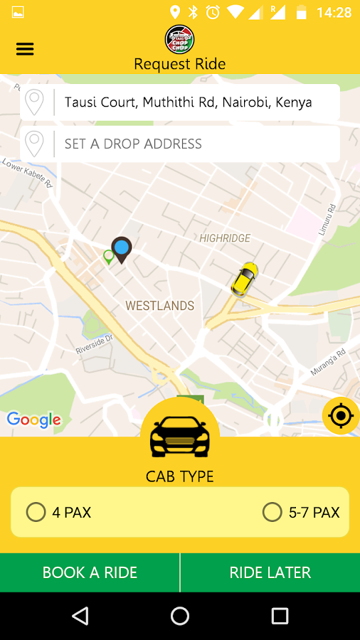 Taxi ChapChap Customer- screenshot