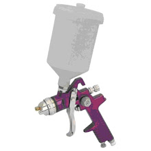 """Photo: 20 Oz. High Volume Low Pressure Gravity Feed Spray Gun (Need 3) ~$15x3 High volume, low pressure for high output with lower overspray. Better for the environment, helps you save money on material costs. Best mix of paint and air pressure Uses most oil based paints Adjustable fan pattern and volume control Includes cleaning kit, wrench and barbed inlet fitting Required air supply: 1-3 HP compressor Required air pressure: 50-70 PSI Air consumption: 6 CFM Air inlet: 1/4""""-18 NPS Output: 200-300 ccs per minute Cup capacity: 20 oz  Nozzle size: 1.5mm"""